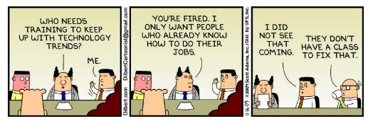 dilbert-on-training