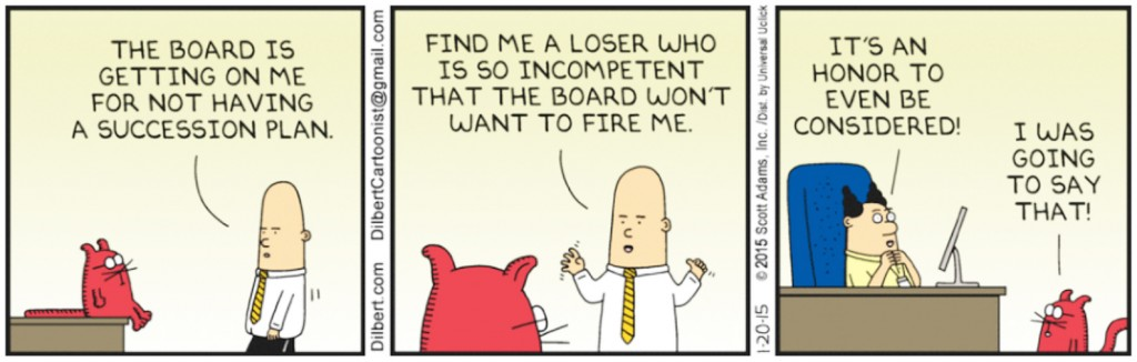 ceo succession planning dilbert
