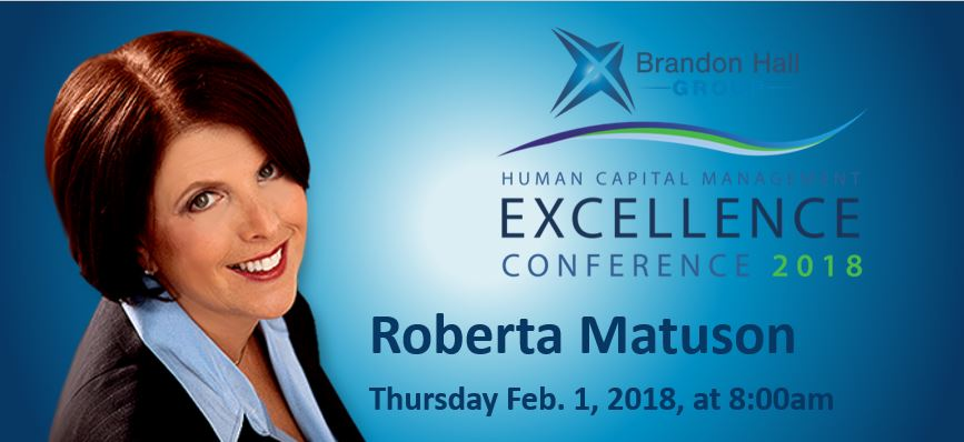 Brandon Hall Group Sits Down with HCM Excellence 18 Keynote Roberta Matuson